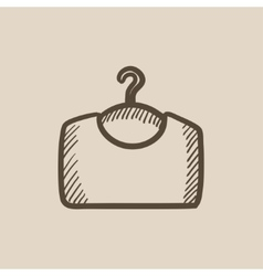 Sweater on hanger sketch icon vector