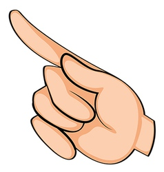 A finger pointing vector image