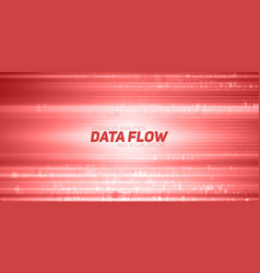 abstract big data visualization red vector image vector image