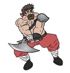 Agresive man vector