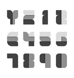 Alphabet set paper black style vector image vector image