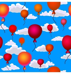 balloons flying vector image vector image