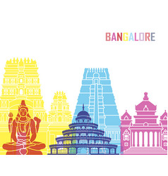 bangalore skyline pop vector image