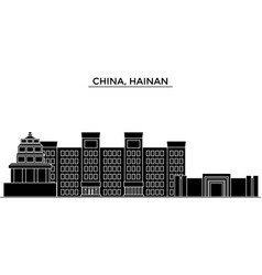 china hainan architecture urban skyline with vector image vector image