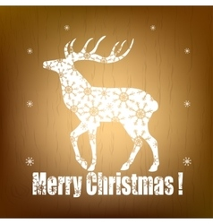 Christmas pattern with white deer vector