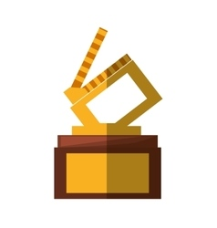 Clapper movie trophy awards shadow vector