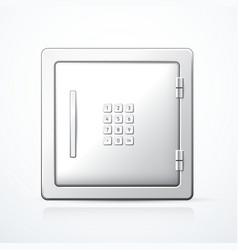closed metal safe vector image