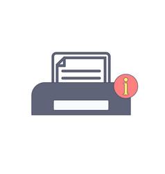 document information paper print printer vector image vector image