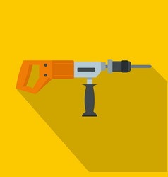 electric drill perforator icon flat style vector image