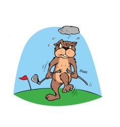 golf gopher vector image vector image
