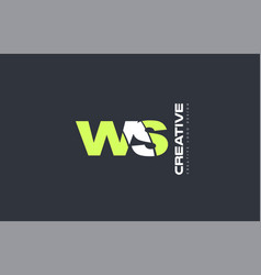 Green letter ws w s combination logo icon company vector