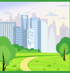 green park landscape on big vector image