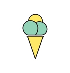 ice-cream icon Eps10 vector image