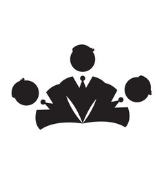 isolated businessmen icon vector image vector image