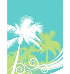 palm wave vector image vector image