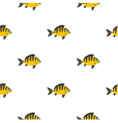 Perch fish pattern seamless vector