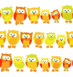 Seamless pattern with owls on white background vector image vector image