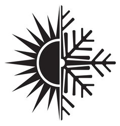 Summer winter air conditioning icon24 resize vector
