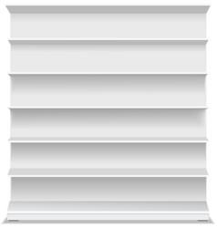 Supermarket blank shelf 3D vector image vector image