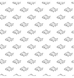 unique digital fishes seamless pattern with vector image vector image