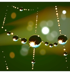 Web drops background vector image
