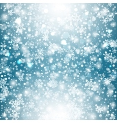 Winter background with snow Christmas snow banner vector image vector image