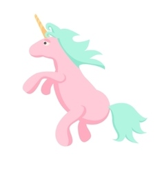 Pink unicorn isolated vector image
