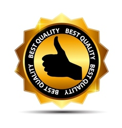 Best choice label with gold ribbon vector