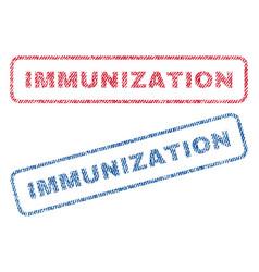 Immunization textile stamps vector