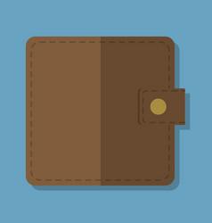 wallet accessory ico vector image