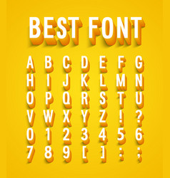 Creative font with shadow effect vector