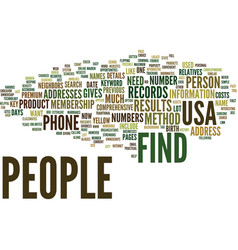 Find people in usa text background word cloud vector