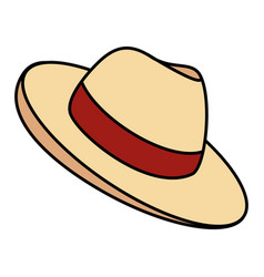 Male hat summer icon vector
