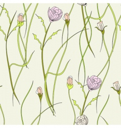 floral seamless wallpaper vector image