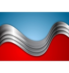 Abstract metallic wave vector image