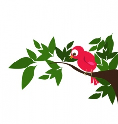 Bird in nature vector