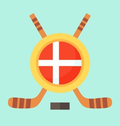 Hockey in denmark vector