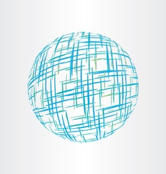 Abstract globe earth technology icon vector
