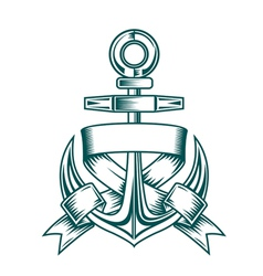 Anchor tattoo vector