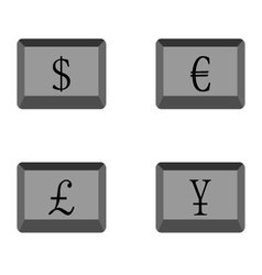 Buttons currency vector