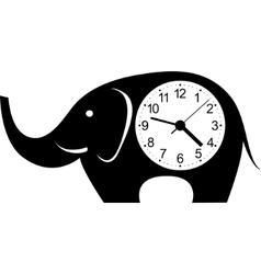 Clock elephant sticker vector