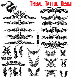 Tribal tattoo design - set vector