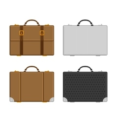 Set of luggage vector
