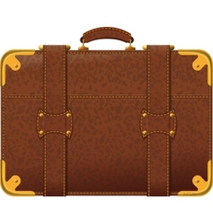 brown suitcase vector image vector image