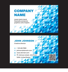 Business visit card with abstract blue background vector