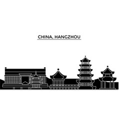 china hangzhou architecture urban skyline with vector image vector image