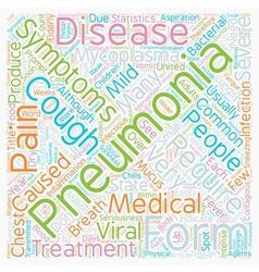 Common pneumonia symptoms text background vector