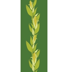Corn plants vertical seamless pattern background vector