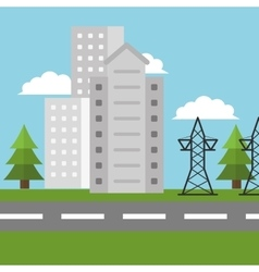 Electricity city high voltage vector