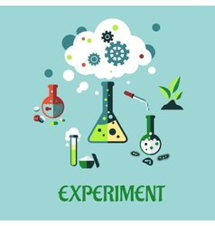 Experiment flat design vector image vector image